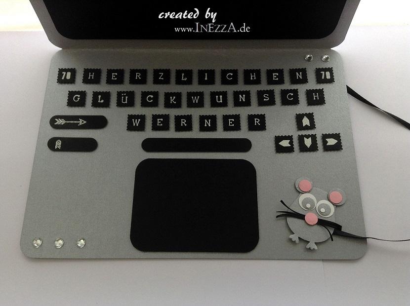 Geldkarte Laptop Geburtstagskarte Geldgeschenk Inezzainezza